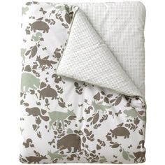 DwellStudio Kids Play Blanket Woodland Tumble Mocha $88