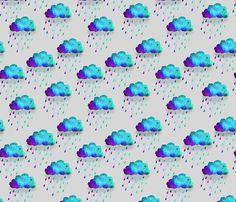 blue acid rain fabric by jennyclaire on Spoonflower - custom fabric