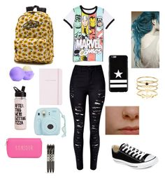 """Untitled #10"" by ty-dice on Polyvore featuring Marvel, Converse, T-shirt & Jeans, Kate Spade, Givenchy, Accessorize, Vans, Eos, Vera Bradley and women's clothing"