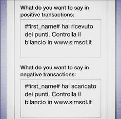 Invio sms per transazioni
