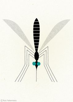 Mosquito by Ryo Takemasa, via Flickr