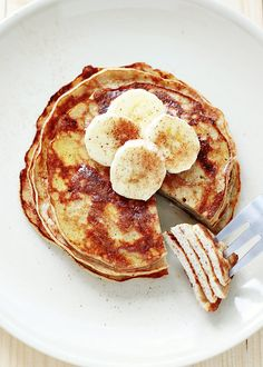 Food Life — foodsforus:   Healthy 3-Ingredient Pancakes   Win...