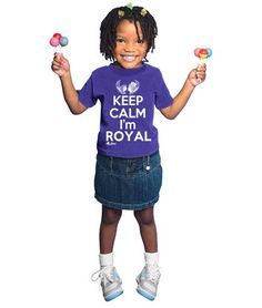 """African American T-Shirt for Girls and Boys """"Keep Calm I'm Royal"""""""