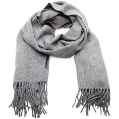 Acne Canada wool scarf (9.300 RUB) ❤ liked on Polyvore featuring accessories, scarves, greymelange, woolen shawl, fringe shawl, wool scarves, fringe scarves and woolen scarves