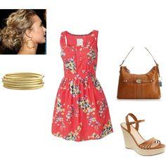 Palm Springs Dress, created by jennalosciuto on Polyvore