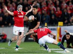 Ioane sets off on a mazy run against the Lions rearguard - his try came at a crucial junct. British And Irish Lions, New Zealand, Running, Keep Running, Why I Run