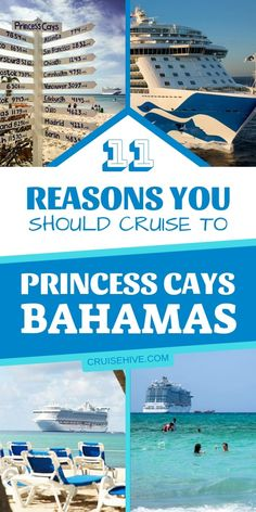 Cruise tips and reasons for cruising to Princess Cays, a private travel destination by Princess Cruises in the Bahamas. #cruise #cruisetips #travel #traveltips #bahamas #caribbean