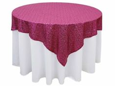 Anna Chair Cover & Wedding Linens Rental Burnaby Bc Ice Fishing With Rod Holder 49 Best Tablecloths Images Ideas Table Overlays 90 X Fushia Premium Sequin Square Overlay