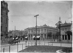 Largo Paissandú, esquina da Av. São João em direção à Rua Conselheiro Crispiniano  Ano: 1918  Autor: Aurélio Becherini
