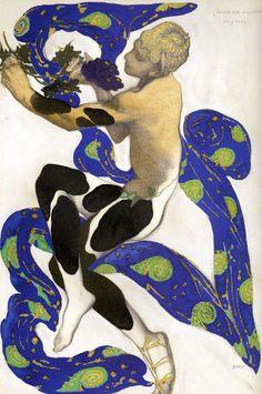 "Bakst- Nijinsky as the faun in the ballet_Afternoon of a Faun Title:バレエ「牧神の午後」(ドビュッシー作曲)衣装デザイン Costume design for the ballet ""The Afternoon of a Faun"" Эскиз костюма к балету ""Послеполуденный отдых фавна"" Artist:レオン・バクスト Leon Bakst Леон Бакст Art Inspo, Kunst Inspo, National Gallery Of Art, Art Nouveau, Art And Illustration, Ballet Russo, Léon Bakst, Afternoon Of A Faun, Eslava"