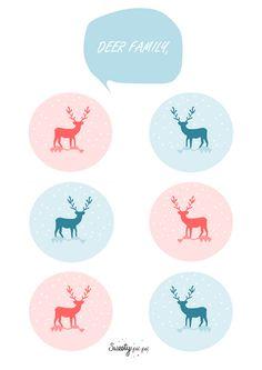 DEER family http://sweetypaipai.wordpress.com/2012/12/19/deer-family/