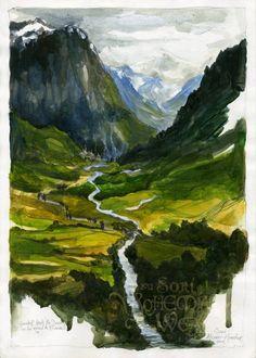 Rivendell (book version) by Soni Alcorn-Hender #Hobbit #LotR