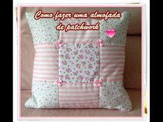 Passo à passo almofada de patchwork rosa. | Vivartesanato