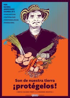 Supporting the farmer's resistance in Colombia • @velovecreativos #graphicdesign #illustration #poster