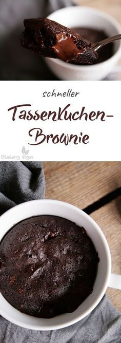 Tassenkuchen-Brownie Vegan Cake vegan cake mug - # Brownie Cupcakes, Cake Like Brownies, Brownies Mug, Nutella Brownies, Vegan Cupcakes, Vegan Brownie, Brownie Recipes, Cake Recipes, Dessert Recipes