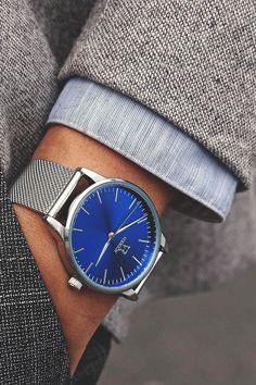 "vividessentials: ""I am proud to announce a new Vodrich collection: THE ICONIC COLLECTION! ICONIC SILVER/BLUE - $85.00Click here to purchase your own Iconic watch Use the code ""VIVID10″ to receive a 10% discount if you order in the first week! """