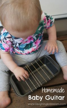 Homemade baby guitar musical instrument using rubber bands. So easy to make and…