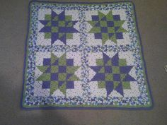 Baby Blocks baby blanket ~ quilt-inspired crochet pattern of assembled granny squares, by C. L. Halvorson.  This version is about 30 x 30 inches.