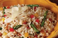 Get nutty today with our whole grain brown rice, sauteed asparagus, red and yellow peppers and pine nuts! Happy National Nut Day!