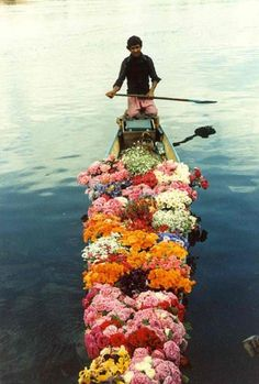 "This is in my ""my style"" board because this is ""my style"" of man. Boat full of flowers? I do."