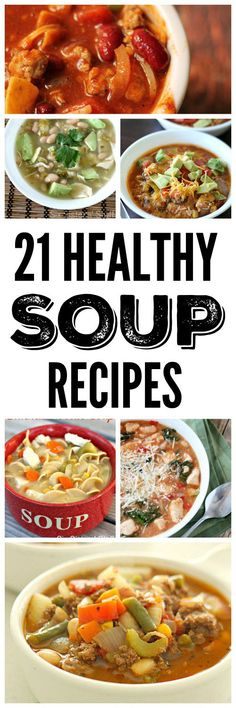 21 Healthy Soup, Stew, and Chili Recipes on SixSistersStuff.com