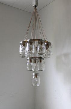 3 tier Mason Jar Chandelier  Mason Jar Lighting  by BootsNGus, $325.00