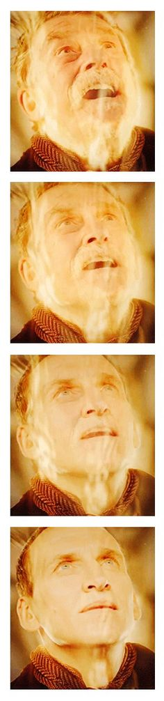 The War Doctor regenerates into Nine... This could've been completed Eccleston had made an official appearance in the end.