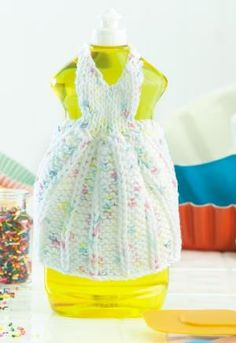 Princess for A Day Dishcloth Dress free pattern Friday from Leisure Arts 10/19/13 knitting