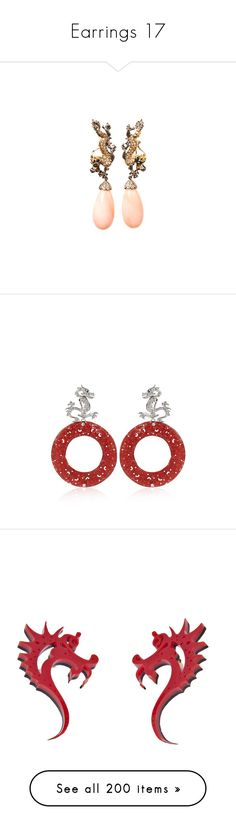 """""""Earrings 17"""" by coollavinia ❤ liked on Polyvore featuring jewelry, earrings, jewels, accessories, yellow gold earrings, white gold earrings, drop earrings, 18 karat gold jewelry, white gold drop earrings and brinco"""