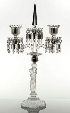 Baccarat Cut-Crystal Candelabra.