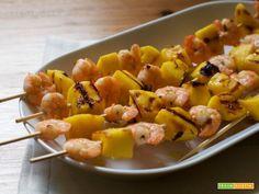 Spiedini di gamberi e mango  #ricette #food #recipes
