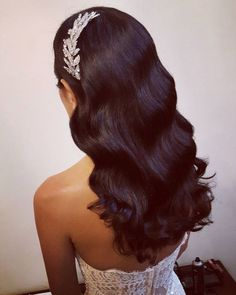 hair ideas bridesmaids hair styles for shoulder length hair hair jewels hair accessories kardashian wedding hair wedding hair hair style for short hair hair stylist near me Bridal Hair Down, Wedding Hair Down, Wedding Hair And Makeup, Hair Makeup, Veil Hairstyles, Wedding Hairstyles, Glamorous Hairstyles, Bridal Hair Inspiration, Hair Vine