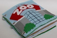 To the Zoo   Quiet Book Pattern, Busy Book Pattern, Travel Toys, Toddlers