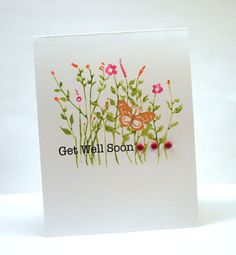 Floral Get Well Card by Julia S - Cards and Paper Crafts at Splitcoaststampers