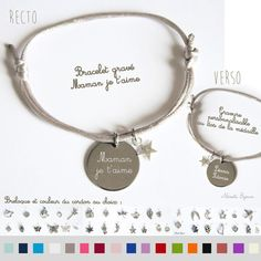 Idée cadeau fête des mères original - Bracelet gravé maman je t'aime  gravure personnalisée prénom  bijou