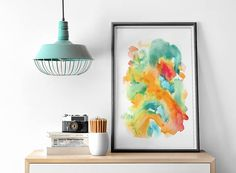 Minimalist Large Abstract Painting Interior Design Art Giclee Print Watercolor Painting by AcrylicVSWatercolor Interior Paint, Interior Design, Large Abstract Wall Art, Watercolor Paintings Abstract, Giclee Print, Design Art, Minimalist, Unique Jewelry, Handmade Gifts