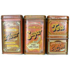 Cheinco Vintage Tin Canister Set