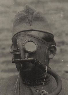 The morbid obsessions and historical musings of artist, collector, photographer and creative fellow, Anthony Marcus Black Gas Mask Art, Masks Art, Gas Masks, Steampunk, Marcus Black, Dark Art Illustrations, World War One, Dieselpunk, Vintage Photos