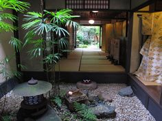 Kyoto, Japanese garden, indoor This is how Japanese form-cutting art works . Small Japanese Garden, Japanese Landscape, Japanese Garden Design, Japanese House, Japanese Gardens, Japanese Style, Jardin Zen Interior, Interior Garden, Zen Garden Design