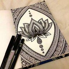 Resultado de imagen para mandalas flor de loto blanco y negro
