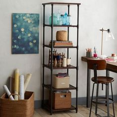 Pipe Bookcase - Narrow | West Elm - maybe for the bedroom? in weird nook?