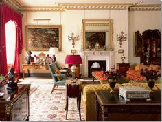 Town and Country — Clarence House- The Garden Room Clarence House, George Vi, Royal Residence, Classic Interior, Country Interior, Traditional Interior, Antique Interior, Duchess Of Cornwall, English Style
