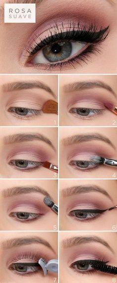 47 trendy makeup tips eyeshadow step by step make up Eye Makeup Glitter, Pink Makeup, Eyeshadow Makeup, Eyeshadow Brushes, Easy Eyeshadow, Smoky Eyeshadow, Hair Makeup, Orange Eyeshadow, Contouring Makeup