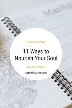 When you feel depleted, worn out, and discouraged, sometimes you have to nourish your soul. Check out these creative ways to rest, refresh, and practice self-care. sarahjhauser.com | Sarah J. Hauser #selfcare #soulcare