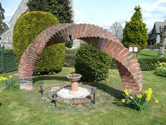 A brick arch…  Now this is certainly whimsical........