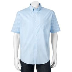 Men's Croft & Barrow® Classic-Fit Patterned End-on-End Stretch Button-Down Shirt,
