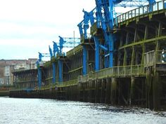 Dunston Staiths from the River Tyne, Gateshead Newcastle, Brooklyn Bridge, Restoration, England, Fire, Frames, Frame, English, British