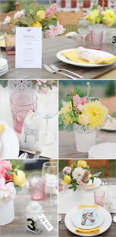 horse  favors, horse table setting