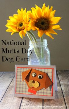 National Mutt's Day Dog Card at Confessions of an Overworked Mom via @ellenblogs