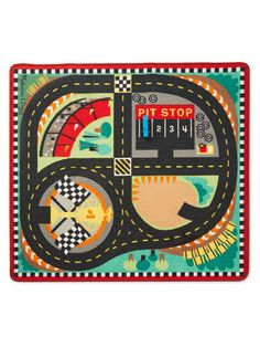Round The Speedway Race Track Rug By Melissa